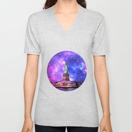 space Statue of Liberty Unisex V-Neck