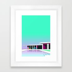 Less than zero Framed Art Print