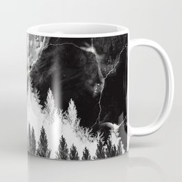marble black and white landscape Coffee Mug
