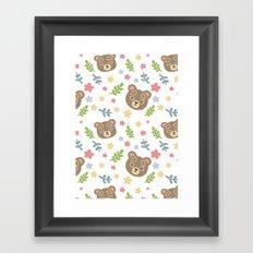Spring Cute Bear Framed Art Print