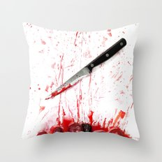 Healthy bloody Eating Throw Pillow
