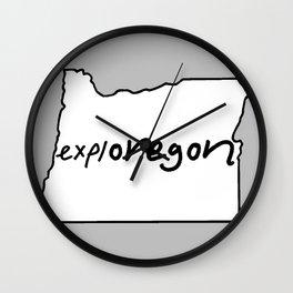 explOREGON Wall Clock