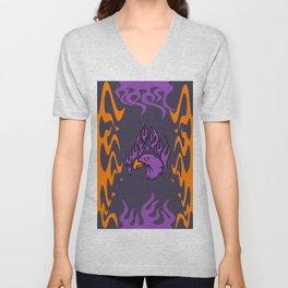 purple eagle Unisex V-Neck
