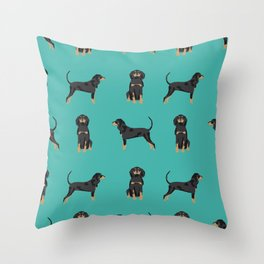 Coonhound simple cute dog breed gifts for coonhounds Throw Pillow