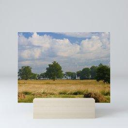 Landscape with a mowed grass Mini Art Print