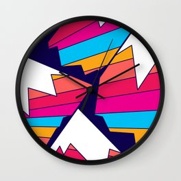 Mountains of many colours Wall Clock