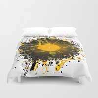 paramore Duvet Covers featuring Don't Destroy the Vinyl by Sitchko Igor