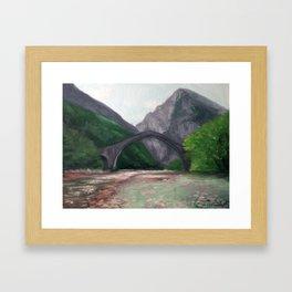 The Bridge of Plaka—Greece Framed Art Print
