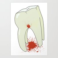 tooth Art Prints featuring Tooth by Slemdawg Hundredaire