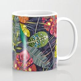 boho hojas midnight Coffee Mug
