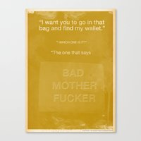 wallet Canvas Prints featuring Get my wallet by The Quotes Project