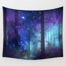 Out of the dark mystic light Wall Tapestry