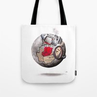 globe Tote Bags featuring globe by Paradox