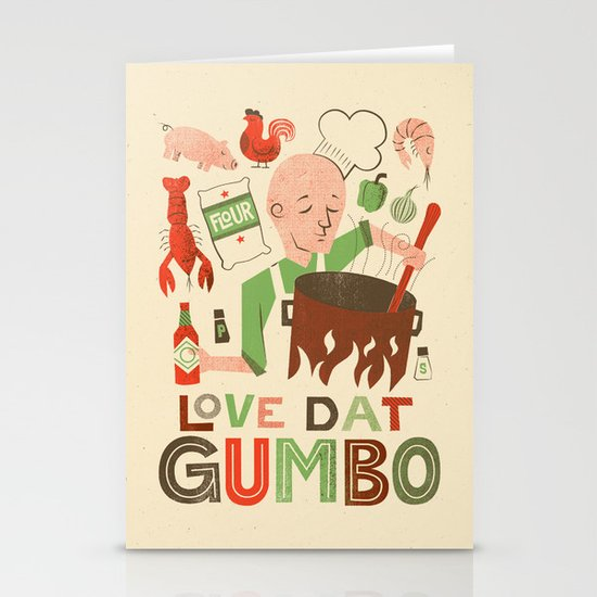 Love Dat Gumbo Stationery Cards