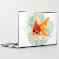 goldfish Laptop & iPad Skins featuring Goldfish by Sarah Sutherland