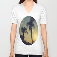 florida V-neck T-shirts featuring Florida by Jillian Stanton
