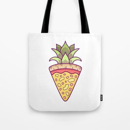 Pineapple Pizza Coat of Arms Tote Bag
