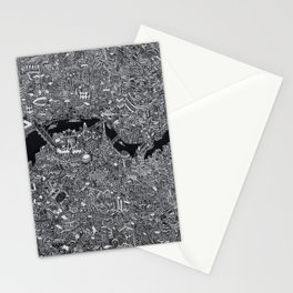 London map black and white Stationery Cards
