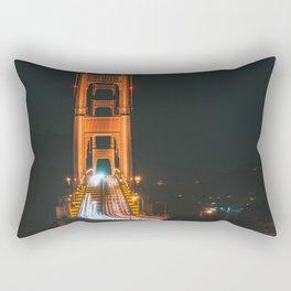 Half Golden Gate Bridge Night Rectangular Pillow