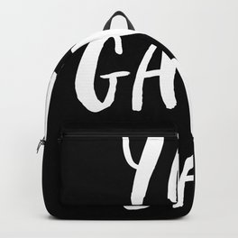 Yay Game Day Football Sports Team White Text Backpack