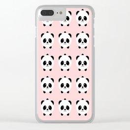 Lovely kawai panda bear Clear iPhone Case