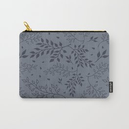 Leaves Illustrated Pale Sky Carry-All Pouch