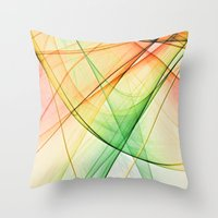 tequila Throw Pillows featuring tequila sunrise by Maureen Popdan