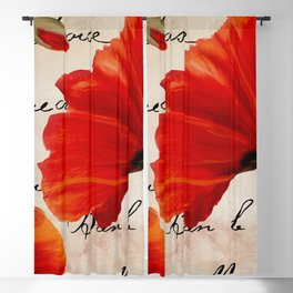 Coquelicots Red Blackout Curtain
