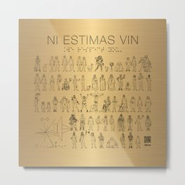The Postmodern Pioneer Plaque Metal Print