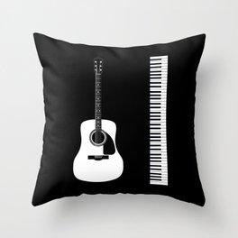 Guitar Piano Duo Throw Pillow