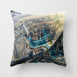 On top of the world, Burj Khalifa, Dubai, UAE Throw Pillow