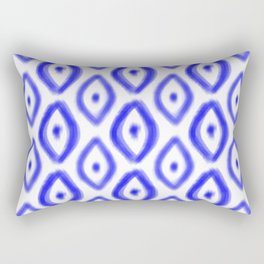 Cobalt Diamond Pattern Rectangular Pillow