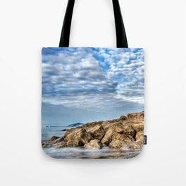 Rocks and Clouds Seascape Tote Bag