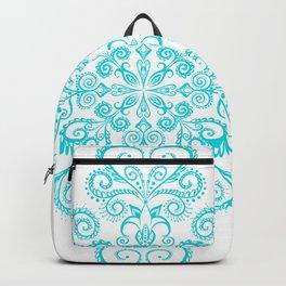 Snow flowers. Backpack