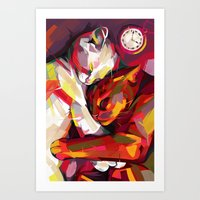 cuddle Art Prints featuring Cuddle Time by Travis Clarke