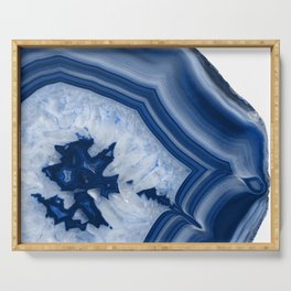 Blue Agate Chic #2 #gem #decor #art #society6 Serving Tray