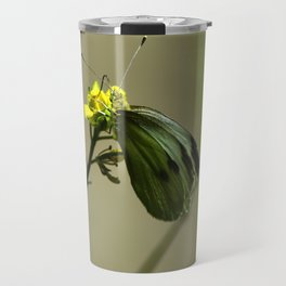 Green Winged Fairy Butterfly Travel Mug