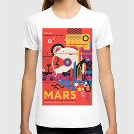 NASA Retro Space Travel Poster #9 Mars T-shirt