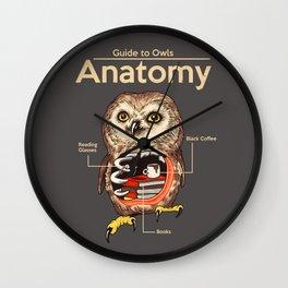 Anatomy of Owls Wall Clock