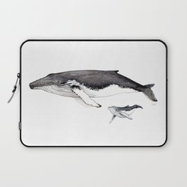 North Atlantic Humpback whale with calf Laptop Sleeve