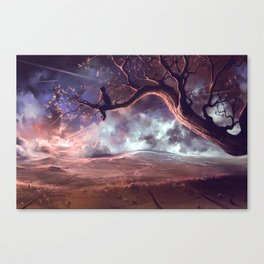 It made scars in the sky  Canvas Print