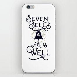 Seven Bells and All Is Well iPhone Skin