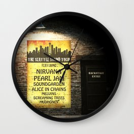 the seattle sound tour Wall Clock