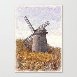 Bidston Windmill in Oils Canvas Print