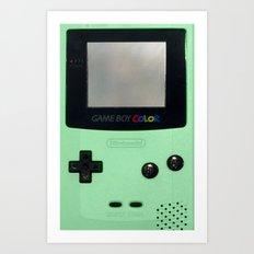 Gameboy Color: Mint Art Print