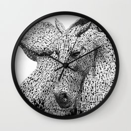 The Kelpies, Water Spirits, Falkirk, The Helix, Scotland black and white photography, 2019 Wall Clock