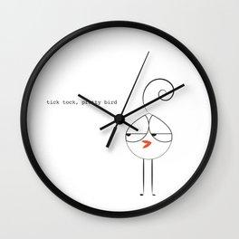 Lola Bird Says Hi Wall Clock