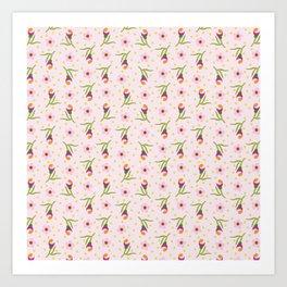 Budding Delight Pink Art Print