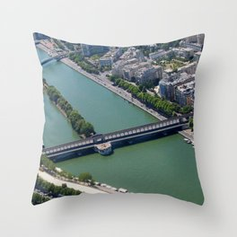 Overlooking the Seine Throw Pillow