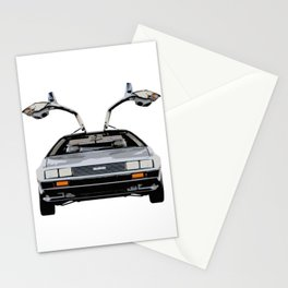 Vintage Back to the Future Car Stationery Cards
